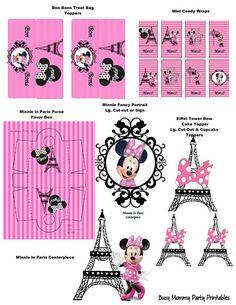 Minnie In Paris Themed Party Package Minnnie Mouse Paris