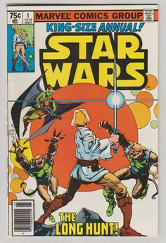 Star Wars; Vol 1, Annual 1, Bronze Age Comic Book. VF/NM (9.2). December 1979. Marvel Comics #starwars #thelonghunt #waltsimonson #comicsforsale