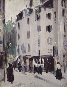 John Duncan Fergusson Scottish, 1874-1961): Rue St Jacques, 1907. National Galleries of Scotland.