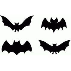 Silhouette Design Store: bat halloween set