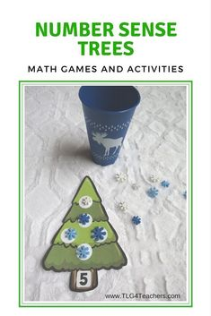 Number Sense Lessons, Games, and Activities~Trees Preschool Christmas, Kindergarten Math, Classroom Activities, Preschool Activities, Number Activities, Print Awareness, Teaching Numbers, Inspired Learning, Math Concepts