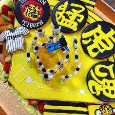 タイガースのケーキ、パーツ Big Cakes, Desserts, Food, Tailgate Desserts, Meal, Tall Cakes, Dessert, Eten, Meals