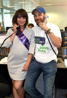 Tom Hardy and Charlotte Riley  - Bowel Cancer UK - Charity Day England - September 11, 2015.