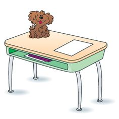 Keeping students desks clean good idea! Student organization Classroom organization Dog help