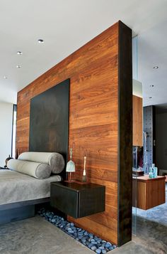 I like this look, especially the floating nightstands