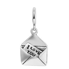 Soufeel I Love You Envelope 925 Sterling Silver Dangle Charm Fits Pandora Charms Bracelet, adding it into your Pandora Charms Collection
