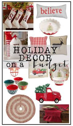 Want to decorate for the holidays, but don't want to spend a ton of money? Today I am sharing fun, festive holiday decor on a budget!