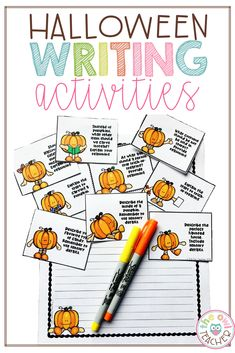 Halloween Writing Prompts and Story Starters Class Activities, Halloween Activities, Writing Activities, Halloween Ideas, Halloween Writing Prompts, Persuasive Writing Prompts, Teacher Lesson Plans, Story Starters, Math Facts