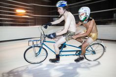 Icycle Race 2015 - a bicycle race on ice! Dufferin Groves #Toronto