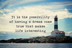 Possibility of a Dream - Paulo Coelho, Alchemist, fine art print, Lighthouse, Quote, Ocean Decor, Large Wall Art, Print, ocean, Photography