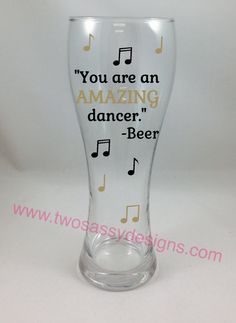 Funny Beer Glass, Fun Beer Glass, Funny Beer Glass Gift by TwoSassyDesigns