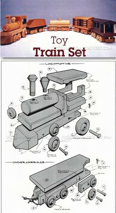 Wooden Toy Train Plans - Children's Wooden Toy Plans and Projects   http://WoodArchivist.com