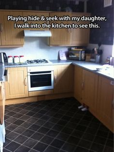 Funny Picture Dump Of The Day – 63 Pics-see the tiny feet, yes the kitchen is very clean!