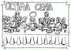 Resultado de imagen para dibujo  para colorear de la ultima cena de jesus con los apostoles