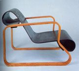 Paimio lounge chair, 1930-1931  Laminated birch, plywood  Design: Alvar Aalto  Production: Artek, Finland  When Alvar Aalto (1898-1976) won the commission to design the Paimio Sanatorium in the late 1920s, he approached the project as if he was a patient. No detail escaped him: from the meticulously planned lay-out of the building and canary yellow paint on the stairs with which he hoped to cheer up the patients, to the robust, comfortable furniture made from Finnish birch. Aalto…