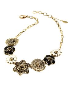 Another great find on #zulily! Gold & Ivory Lucy Garden Necklace by Amrita Singh #zulilyfinds