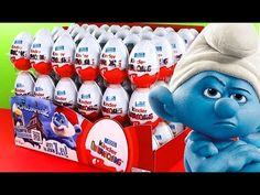 Kinder Surprise Eggs Unboxing Smurfs 2
