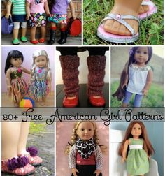 "80+ Free American Girl 18"" Doll Patterns - Don't overpay for clothes for your American Girl! You can sew some simple pieces using these free patterns!"