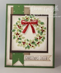 Christmas Cheer Wonderful Wreath card