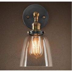 73bc7829c6667f Observatory Lighting Clear Glass Cloche Filament Wall Light Lampe Filament,  Applique Cuisine, Lustre,