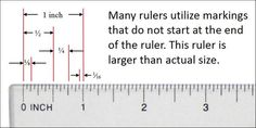 How much is 3/8? yeah I forgot how to use a ruler... love this Rulers 101 or How to measure.