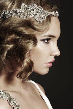 Peinado con ondas estilo a 241 os 20 para novias con el cabello corto