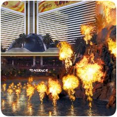The Volcano plays nightly every hour on the hour from 6 p.m. to 11 p.m. 3400 S. Las Vegas Blvd. Las Vegas, NV 89109