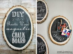 just the bee's knees: DIY Rustic Wood Magnetic Chalkboards