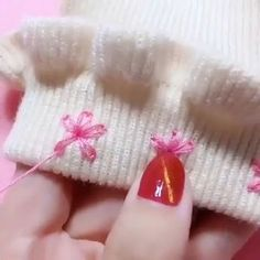 Hand Embroidery Dress Sewing Stitches Embroidery Stitches Sewing Hacks Sewing Tutorials Sewing Crafts Sewing Projects Clothing Hacks Diy Arts And CraftsCreative Stitching Hacks is part of diy_crafts - diy_craftsMaille Lisiere Recycle Old Clothes Diy Hand Embroidery Videos, Hand Embroidery Stitches, Ribbon Embroidery, Embroidery Art, Embroidery Patterns, Sewing Patterns, Hand Embroidery Designs, Hand Stitching, Sewing Hacks