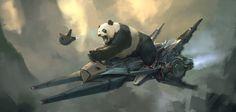 ArtStation - Panda Rider, Steve Wang