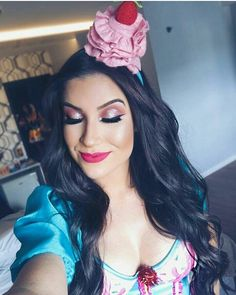 @blogbrunalucena #makeup #maquiagem #fantasia #cupcake #bocarosa #Halloween