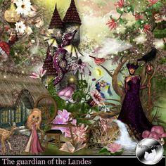 """Kitty Scrap revisite le conte de la Belle au bois Dormant """"The gardian of the Landes"""""""