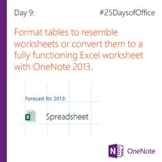 Convert a OneNote table to an Excel worksheet One Note Microsoft, Microsoft Surface Pro 4, Microsoft Office, Office 365, Computer Tips, Evernote, Educational Technology, Ministry, Computers