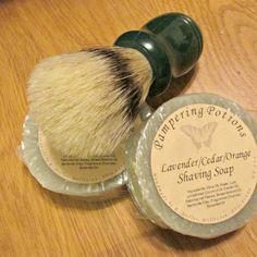 Natural Men's Shaving Soap  Refill Soap Boar by PamperingPotions