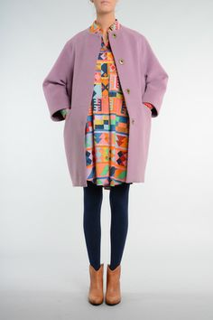 Aguayo Dress and Cocoon Coat   http://obus.com.au/