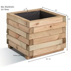 3 Fun And Easy DIY Woodworking Projects That You Can Complete This Weekend Wooden Planter Boxes Diy, Garden Planter Boxes, Planter Box Plans, Diy Planters, Woodworking Projects Diy, Woodworking Furniture, Diy Wood Projects, Outdoor Furniture Plans, Diy Pallet Furniture