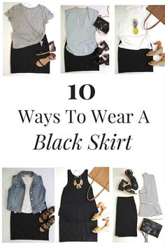 Do you own a black skirt?  I own two: a pencil skirt and now, a cotton-knit skirt.  I recently discovered that this black cotton-knit skirt is great to wear to both dressy and casual.  It's more of a versatile skirt that the basic pencil skirt ever was!  I purchased this black skirt a few weeks …