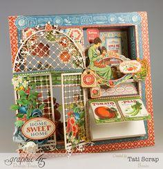 Window Shadow Box, Graphic 45 Kitchen Wall Decor