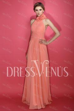 Charming A-Line Halter Bridesmaid Dress.