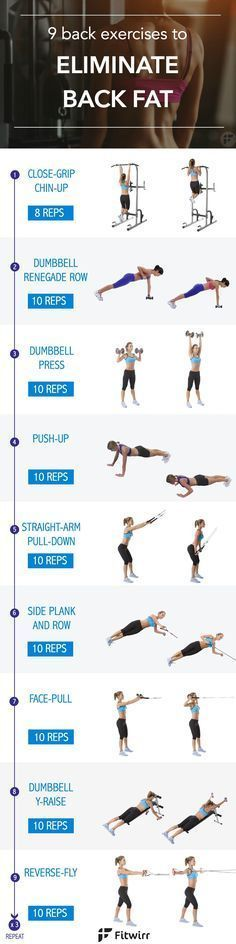 9 back fat exercises to eliminate the bra bulge. It's time to say good bye to those annoying back fat. Tone your back with these 9 exercises, and put on a backless dress with confidence.