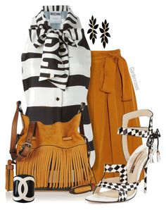 """""""Black, White & Suede"""" by gardenrosesgraphics ❤ liked on Polyvore featuring Isabel Marant, Moschino, Burberry, Sophia Webster and Chanel"""