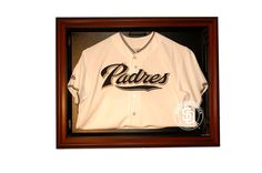San Diego Padres E-Z Removable Face 3/4 View Jersey Display, Brown from ManCaveGiant.com