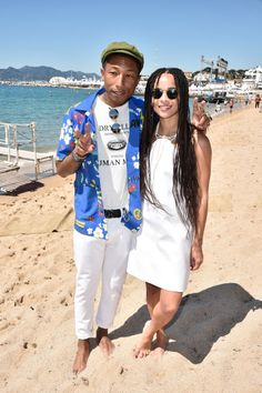 2015 Cannes Film Fest - Pharrell Williams and Zoe Kravitz Zoe Kravitz, Elle Magazine, Pharrell Williams, Celebs, Celebrities, Cannes Film Festival, Red Carpet Fashion, Spring Summer Fashion, Style Icons