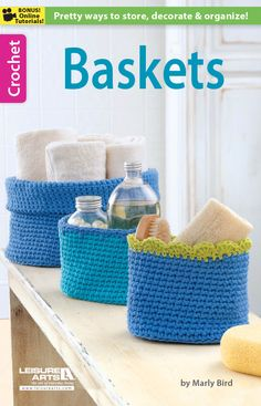 10 free crochet basket patterns here to keep everything tidy in your home  ~~ www.pinterest.com/pmidesigns1