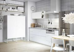 Best IKEA Small Kitchen Ideas Ikea Kitchen Cabinet Design Ideas Amazing Ajangduckdns - There are many choices that go into kitchen style that you ought to Ikea Small Kitchen, Small Kitchen Diner, Small White Kitchens, Ikea Kitchen Design, New Kitchen, Cool Kitchens, Kitchen Ideas, White Kitchen Paint Ideas, Beech Kitchen