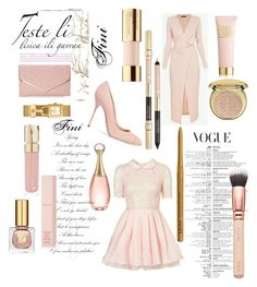 """Fini's pink"" by fini-i ❤ liked on Polyvore featuring Smith & Cult, Christian Dior, Tory Burch, NYX, Estée Lauder, Lancôme, Sasha, AERIN and ZOEVA"