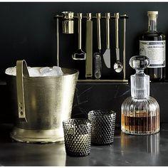 gilded gold ice bucket-wine chiller | CB2