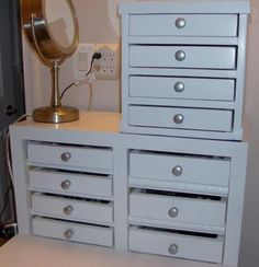 DIY Furniture : DIY Mini Dresser for Jewelry and keepsakes