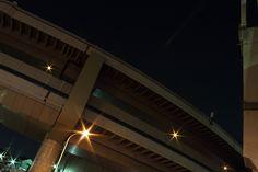 Tokyo, Itabashi JCT in the night.