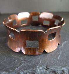 Cinnamon Jewellery: A Groovy Shape Copper Bangle And How I Made it